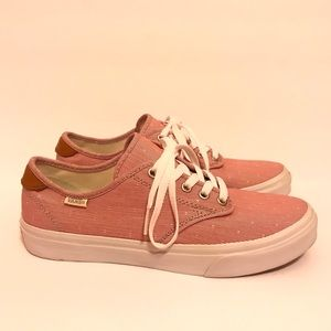VANS Authentic Pro Red White Striped Lace-Up Shoes